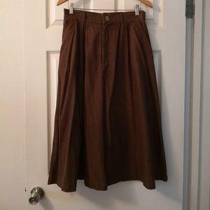 Vintage Cotton Blend Walking Skirt